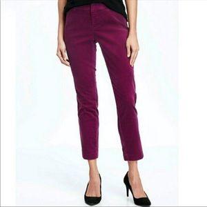 Old Navy fuchsia purple velvet skinny Pixie pants